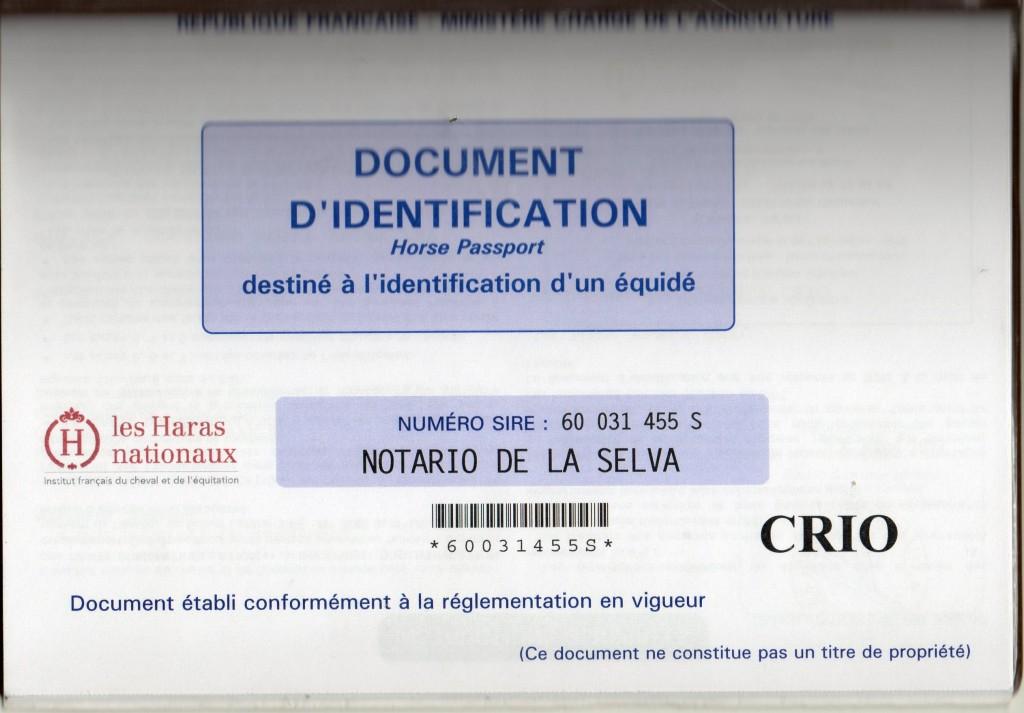 C' est NOTARIO qui a eu le premier document CRIOLLO